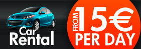 Rent a car from 15 euro