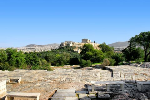 View of the Acropolis from Filopappos hill.