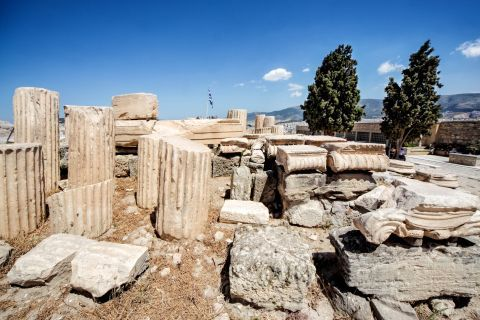 Ruins on Acropolis hill.