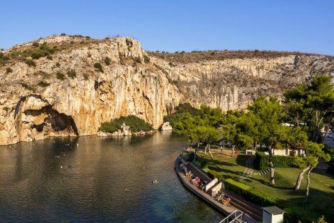 Lake Vouliagmenis, Athens.
