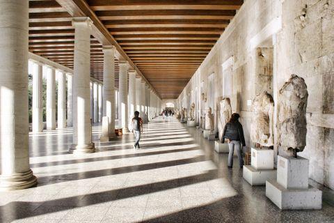 The Stoa of Attalos Museum in Ancient Agora.