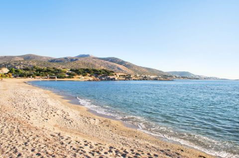 Lagonisi beach.