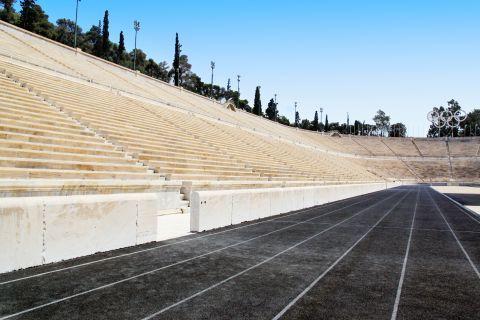 The seatings of the Panathenaic Stadium
