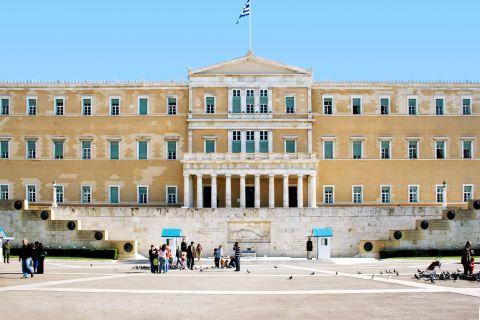 The Greek Parliament.