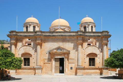The Monastery of Agia Triada (Holy Trinity) Tsagarolon in Chania, Crete. It is one of the most impressive and big churches all over Crete.