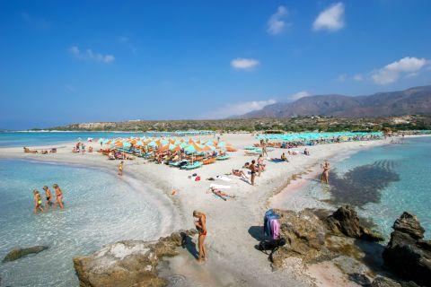 Elafonisi beach. Chania, Crete.