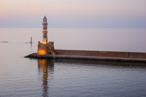 The lighthouse of Chania.