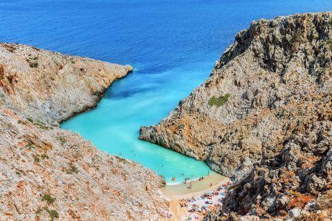 Seitan Limania beach. Chania,Crete.