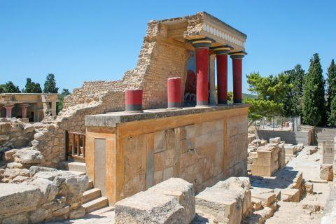 Ruins of Knossos palace.