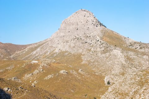 Barren spot of a mountainous region.
