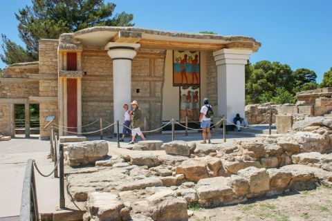 At the ancient site of Knossos.