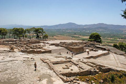 Ruins of the ancient site in Phaestos.