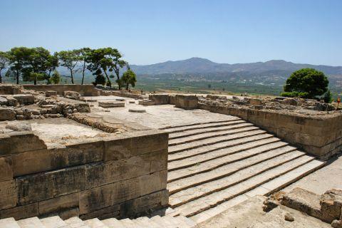 At the ancient site of Phaestos.
