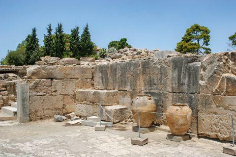 Ancient amphorae at the ancient site of Phaestos.