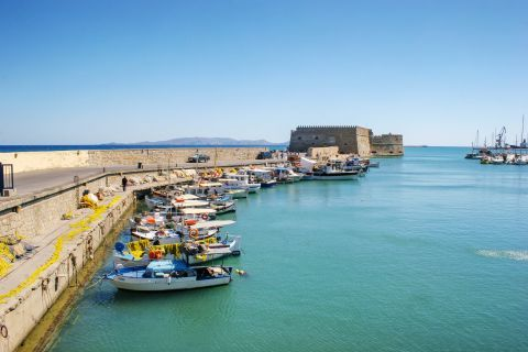 At the port of Heraklion.