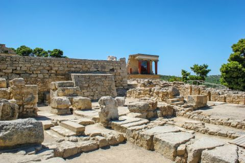 The ancient site of Knossos.