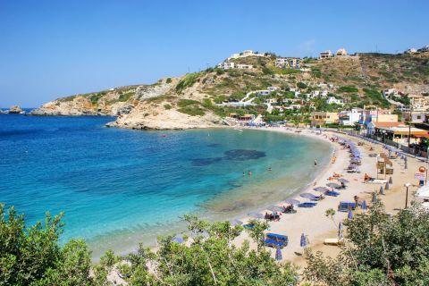 Panoramic view of Ligaria beach.