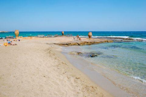 Malia beach.