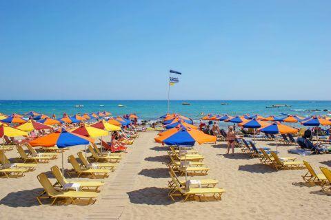 Stalida beach.