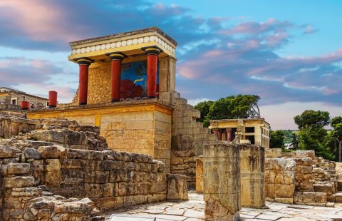 Ruins of the palace of Knossos.