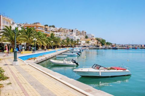 At the small harbor of Sitia