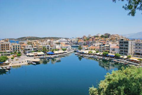 At the port of Agios Nikolaos