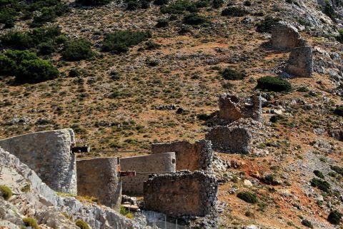 Ruins of stone built windmills