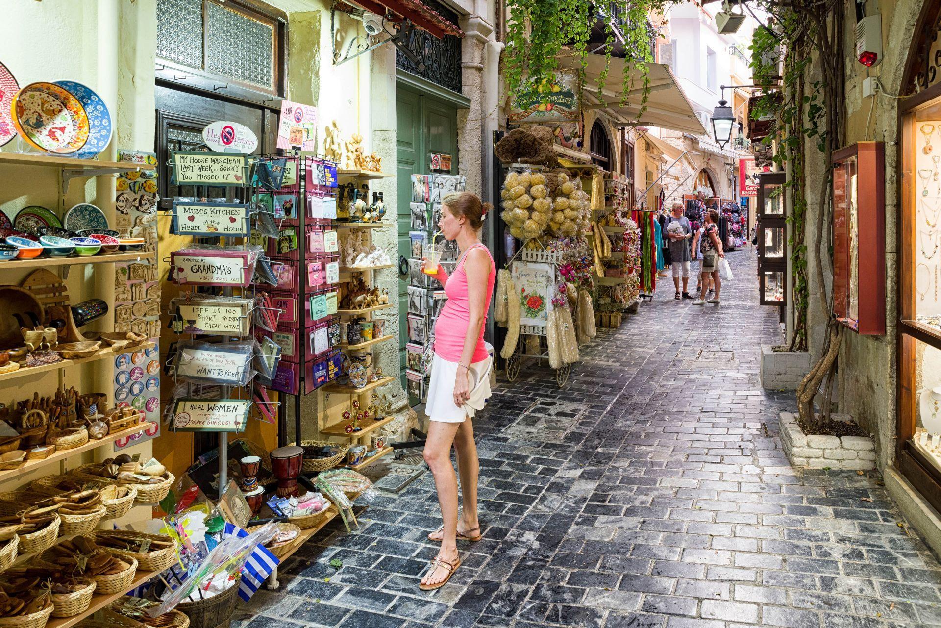 Shopping in Rethymno