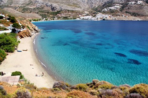 The crystal clear waters of Amorgos.