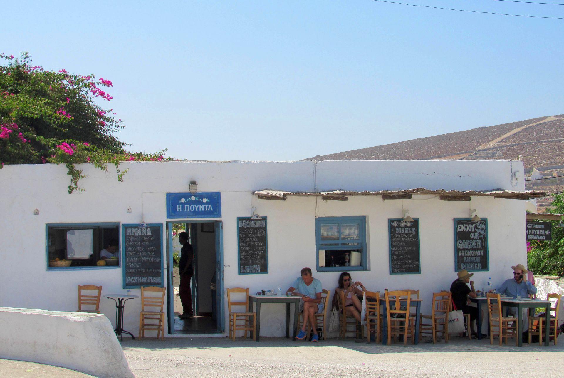Cafes in Folegandros