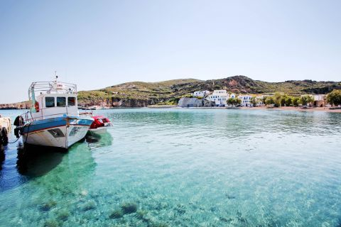 At the port of Kimolos.