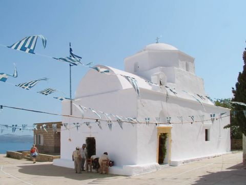 The picturesque chapel of Agia Marina, Milos.
