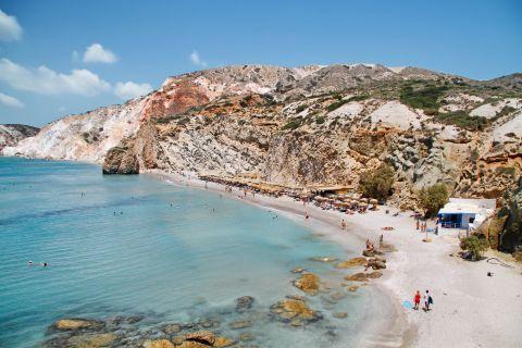View of Firiplaka beach, Milos.