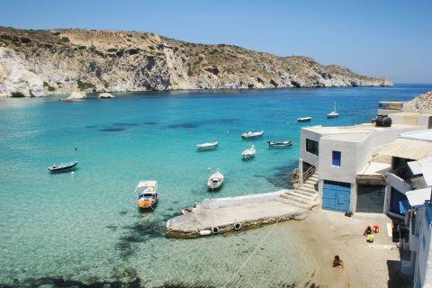 The azure waters of Fyropotamos beach