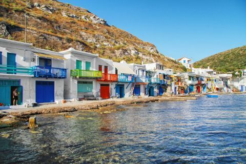 Coloured houses in Klima