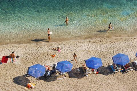Relaxing moments in Paleochori beach