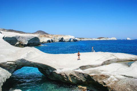 Beautiful scenery. Sarakiniko beach, Milos.