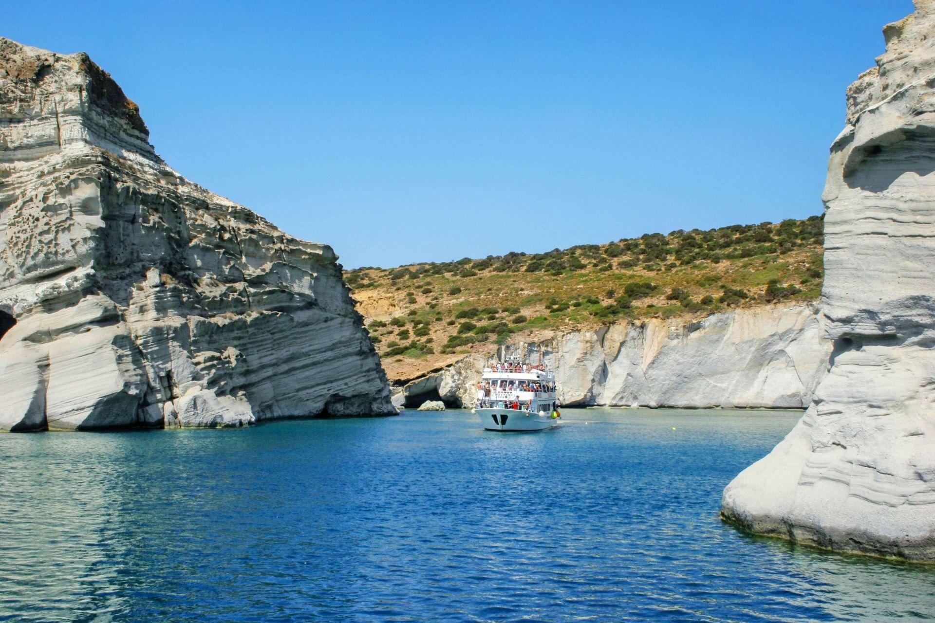 Milos Greece: Kleftiko caves