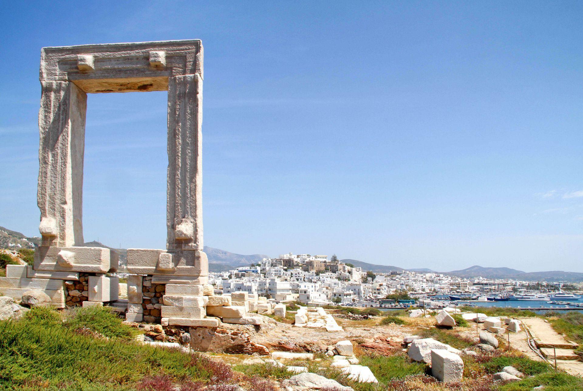 Naxos island: Portara, the landmark of Naxos