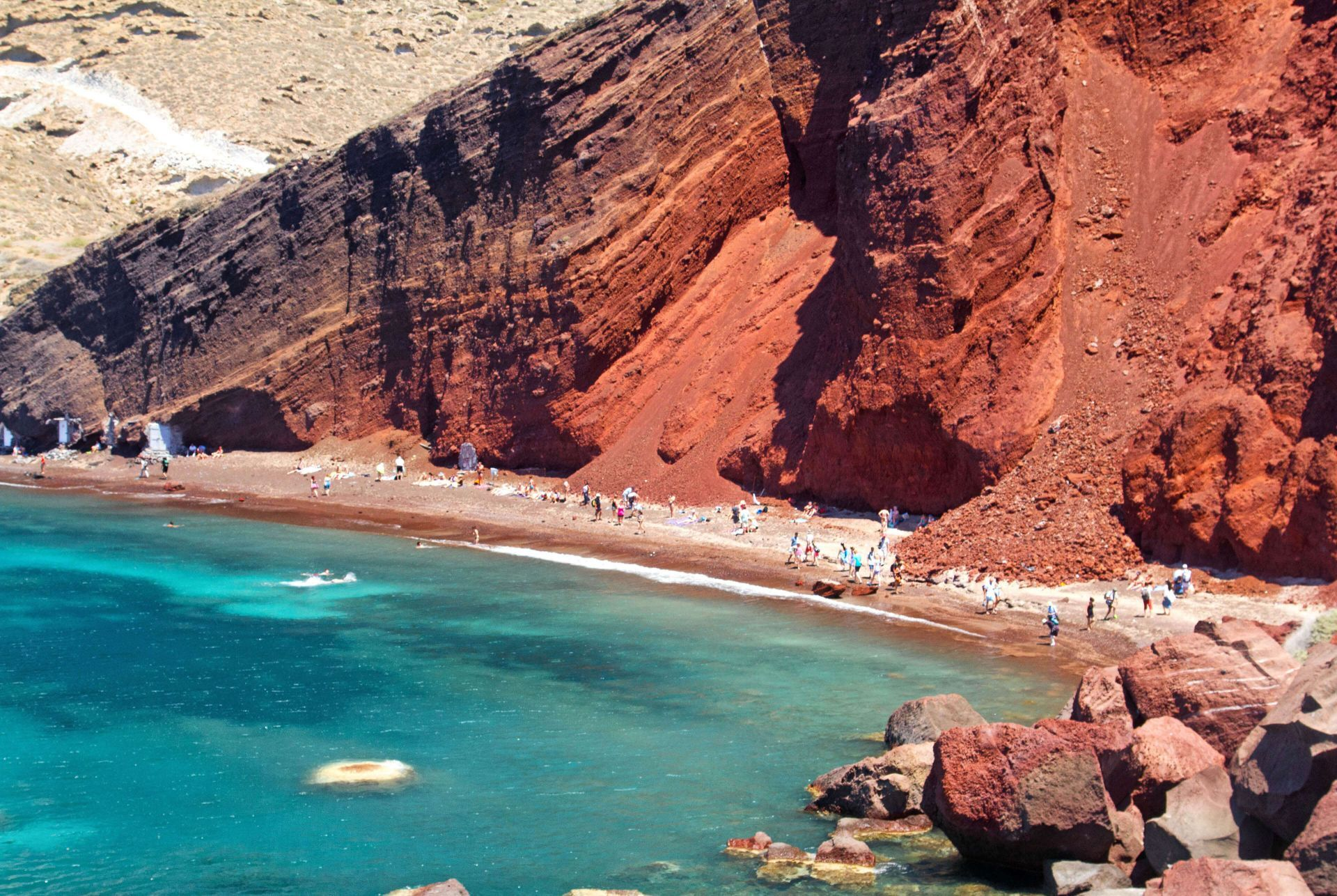 Santorini Greece: The Red Beach