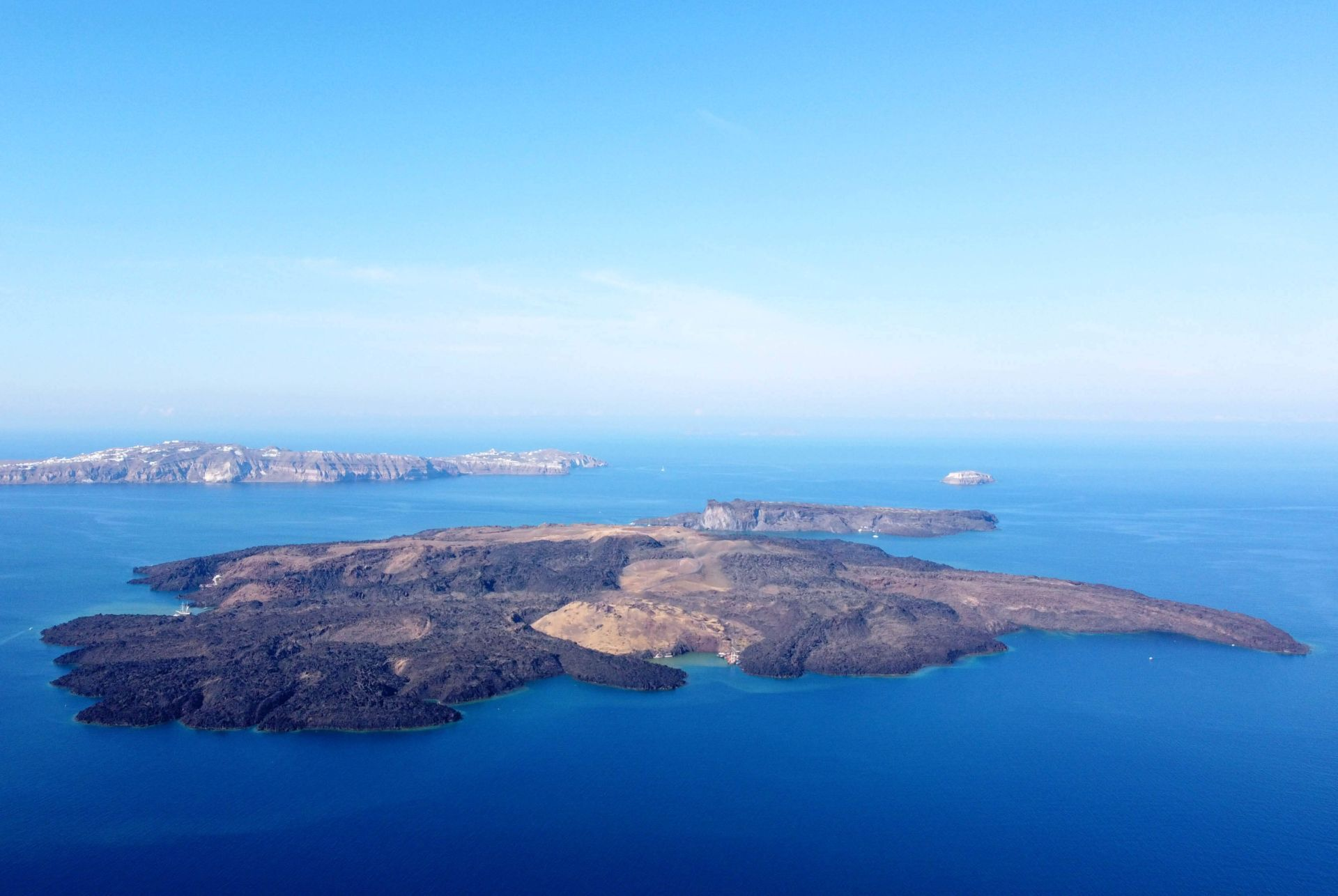 Santorini Island: The active Volcano