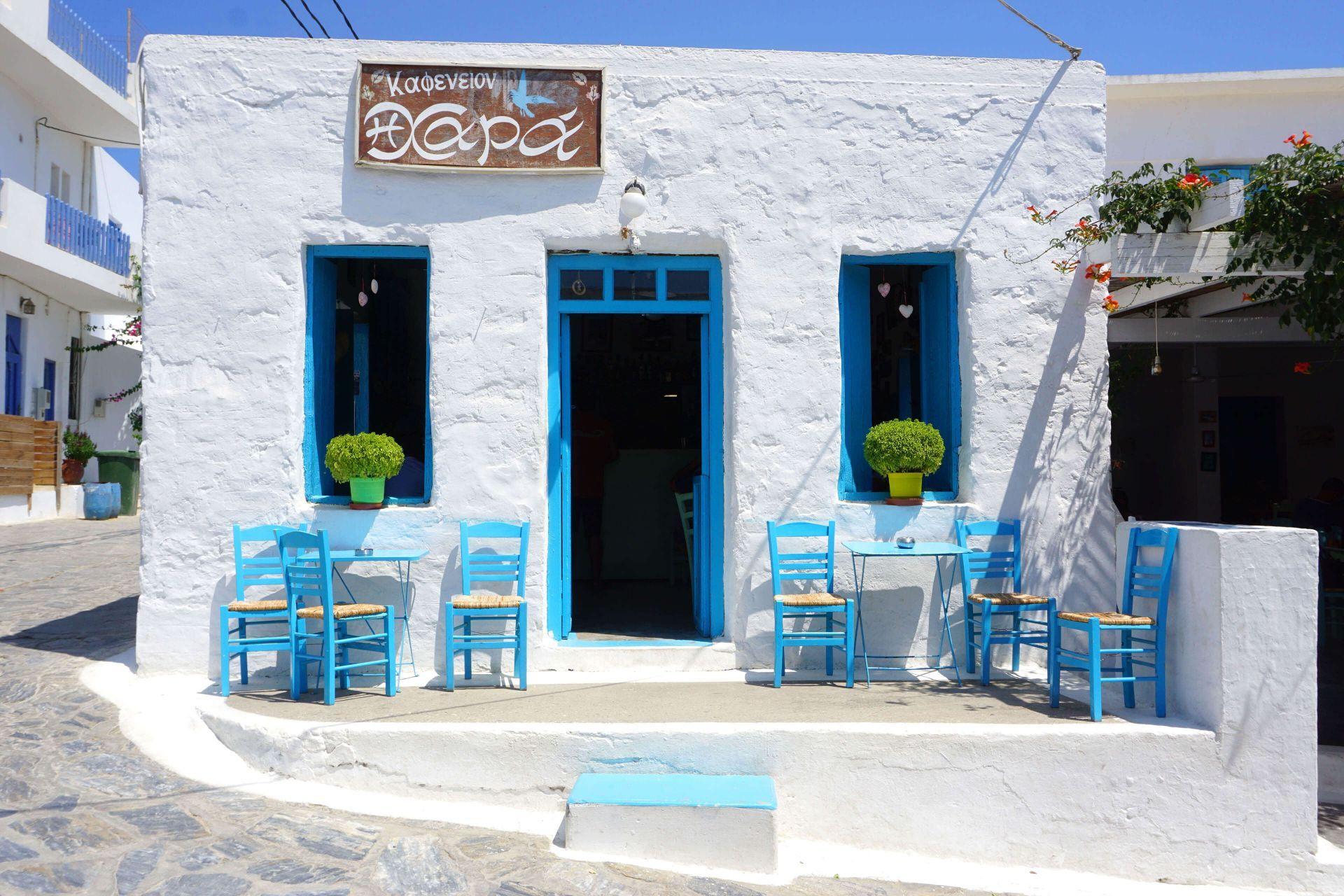 Cafe in Schinoussa