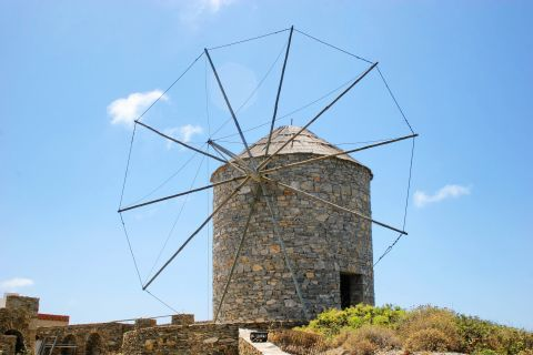 A traditional windmill.