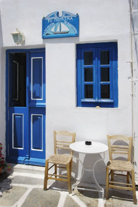 A traditional kafenio in Chora, Serifos.