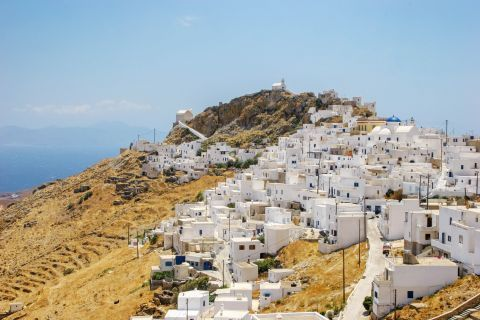 Panoramic view of Serifos Town