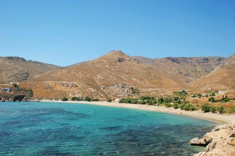 View of Ganema beach. A totally unspoiled place.