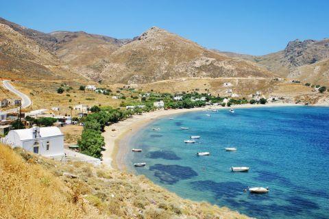 Panoramic view of Koutalas beach.
