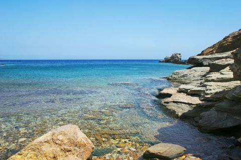 Crystal clear waters. Dialiskari beach, Sikinos.