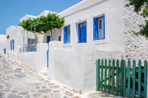Cycladic architecture in Sikinos.