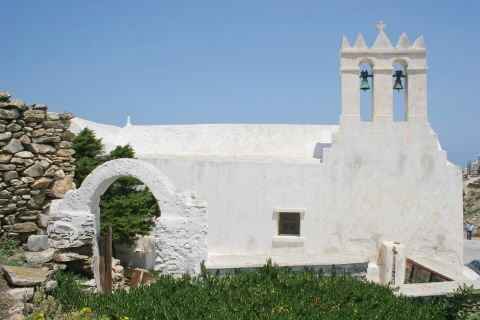 A whitewashed church.